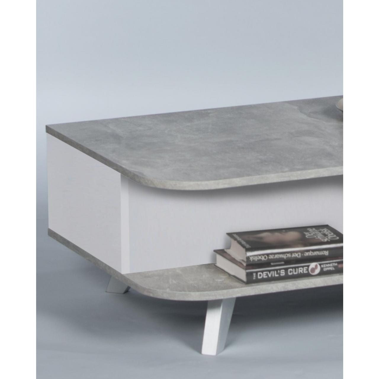 couchtisch weiss betonoptik. Black Bedroom Furniture Sets. Home Design Ideas