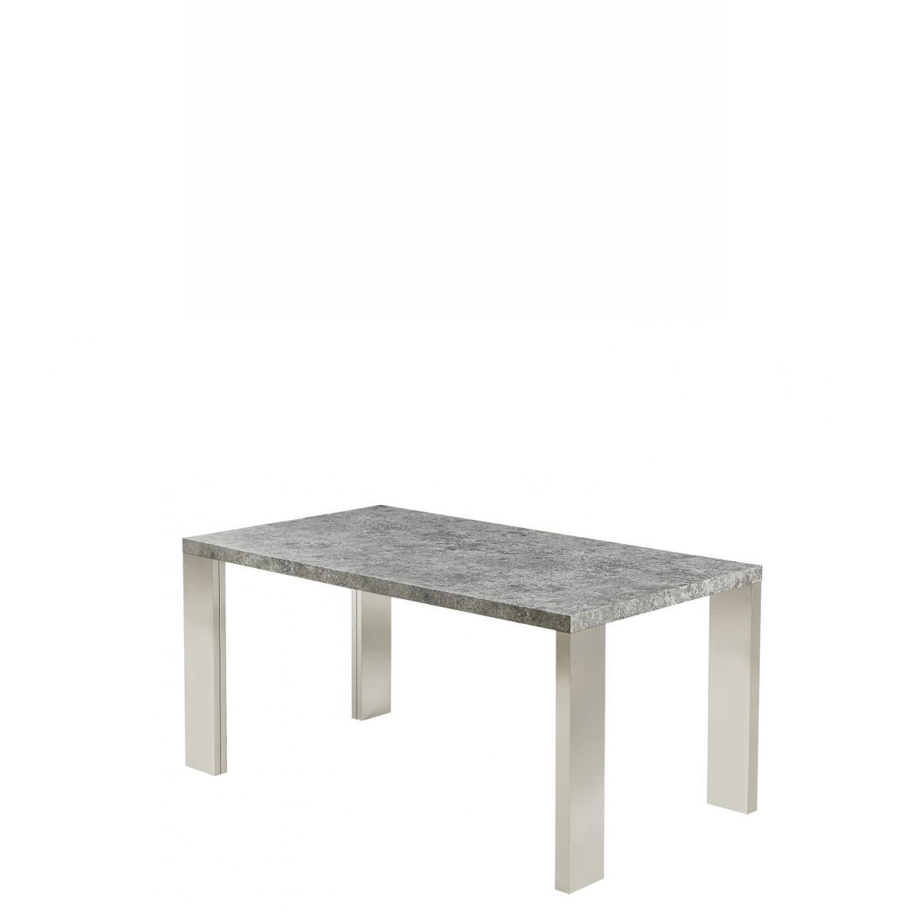 Esstisch Michel in grau mit Edelstahl Füßen
