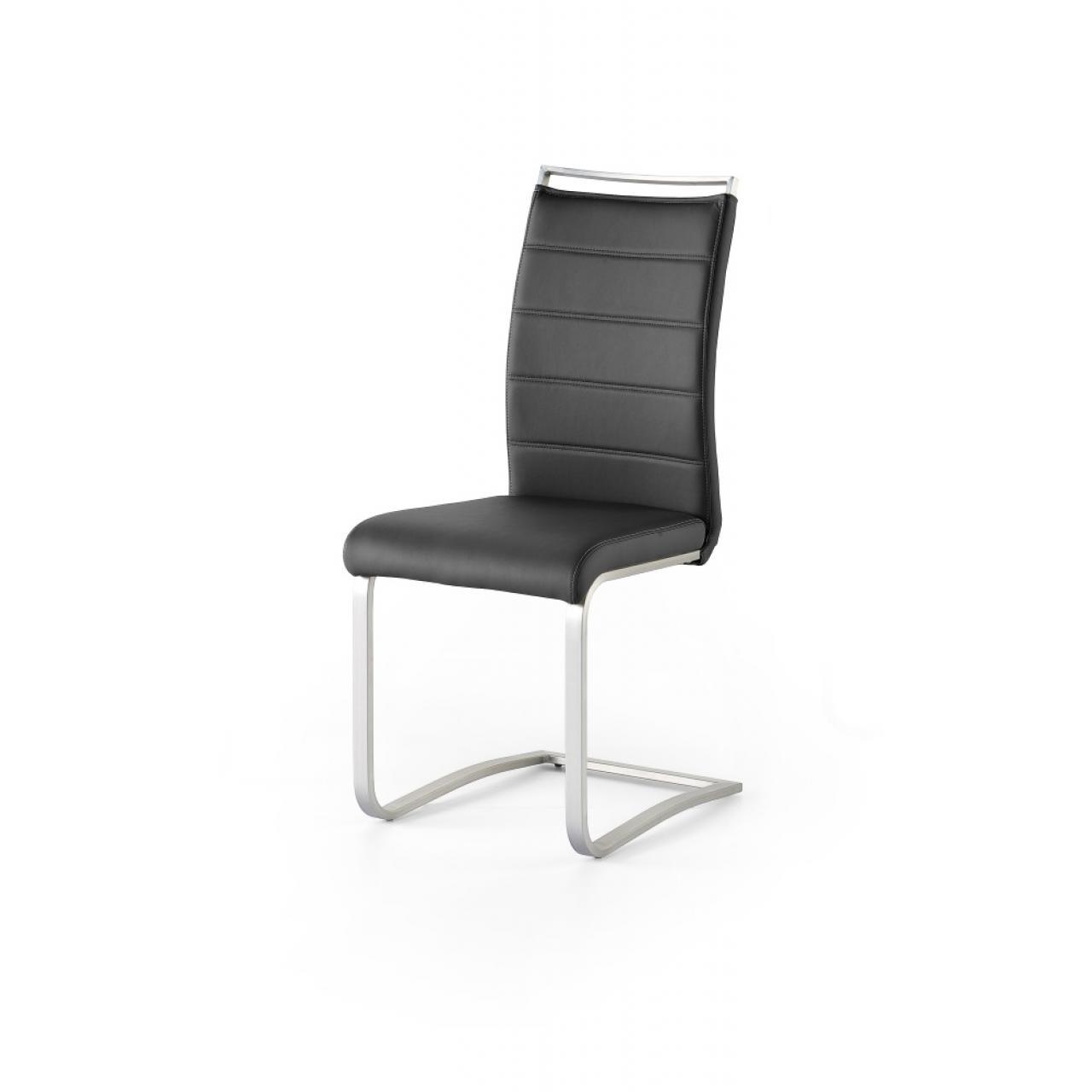 schwingstuhl pescara schwarz edelstahl schwinger. Black Bedroom Furniture Sets. Home Design Ideas