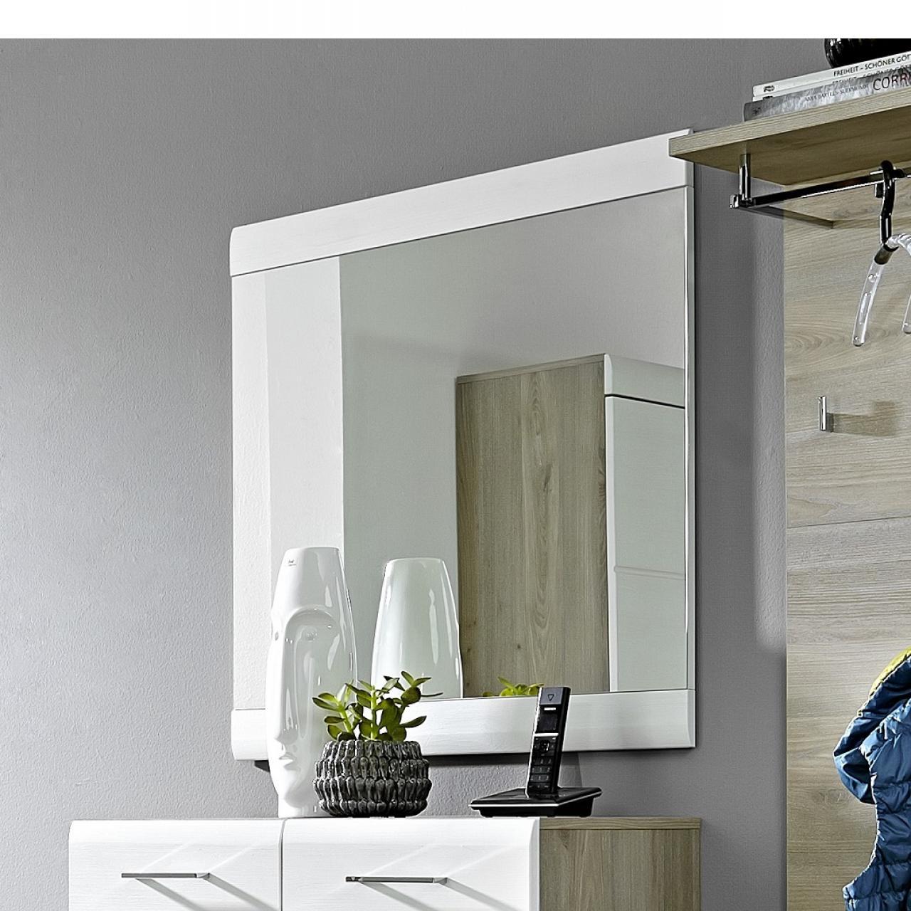 Spiegel Funny Weiß MDF Wandspiegel Flur Diele Badezimmer Gäste-WC