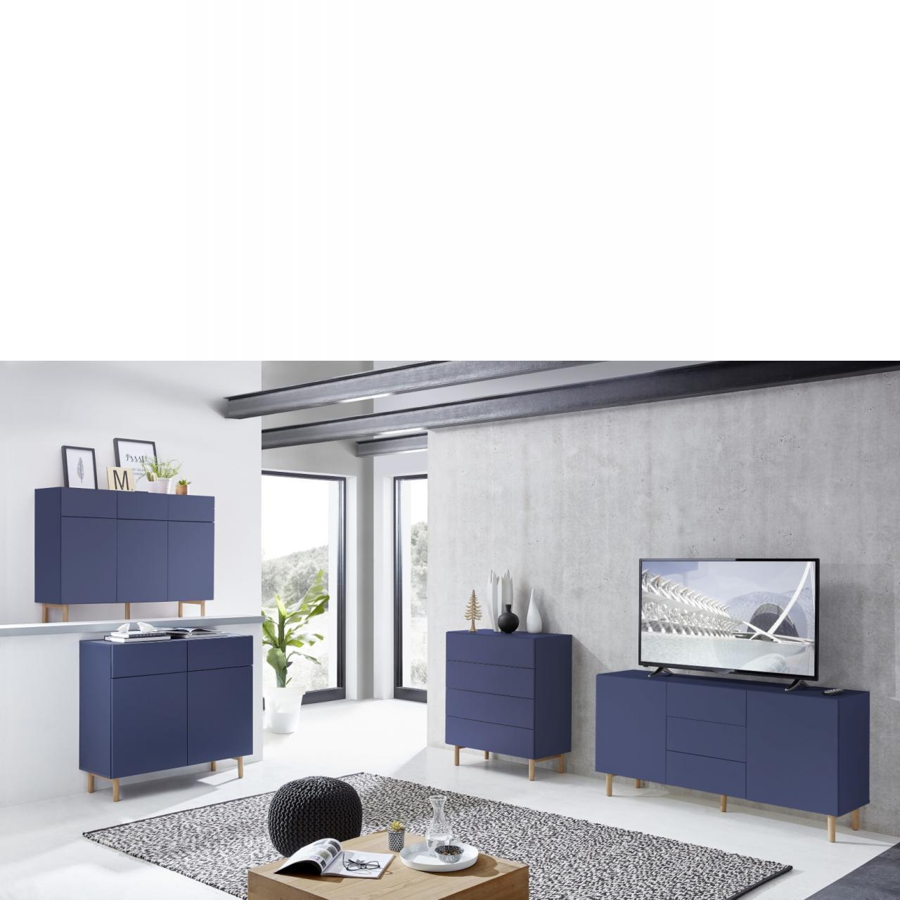 kommode k2 blau kommoden wohnzimmerm bel wohnen m bel j hnichen center gmbh. Black Bedroom Furniture Sets. Home Design Ideas