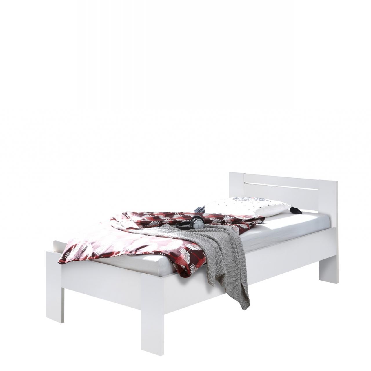 Futonett Saturn Weiss 90x200 Mdf Gastebett Jugendbett Schlafzimmer