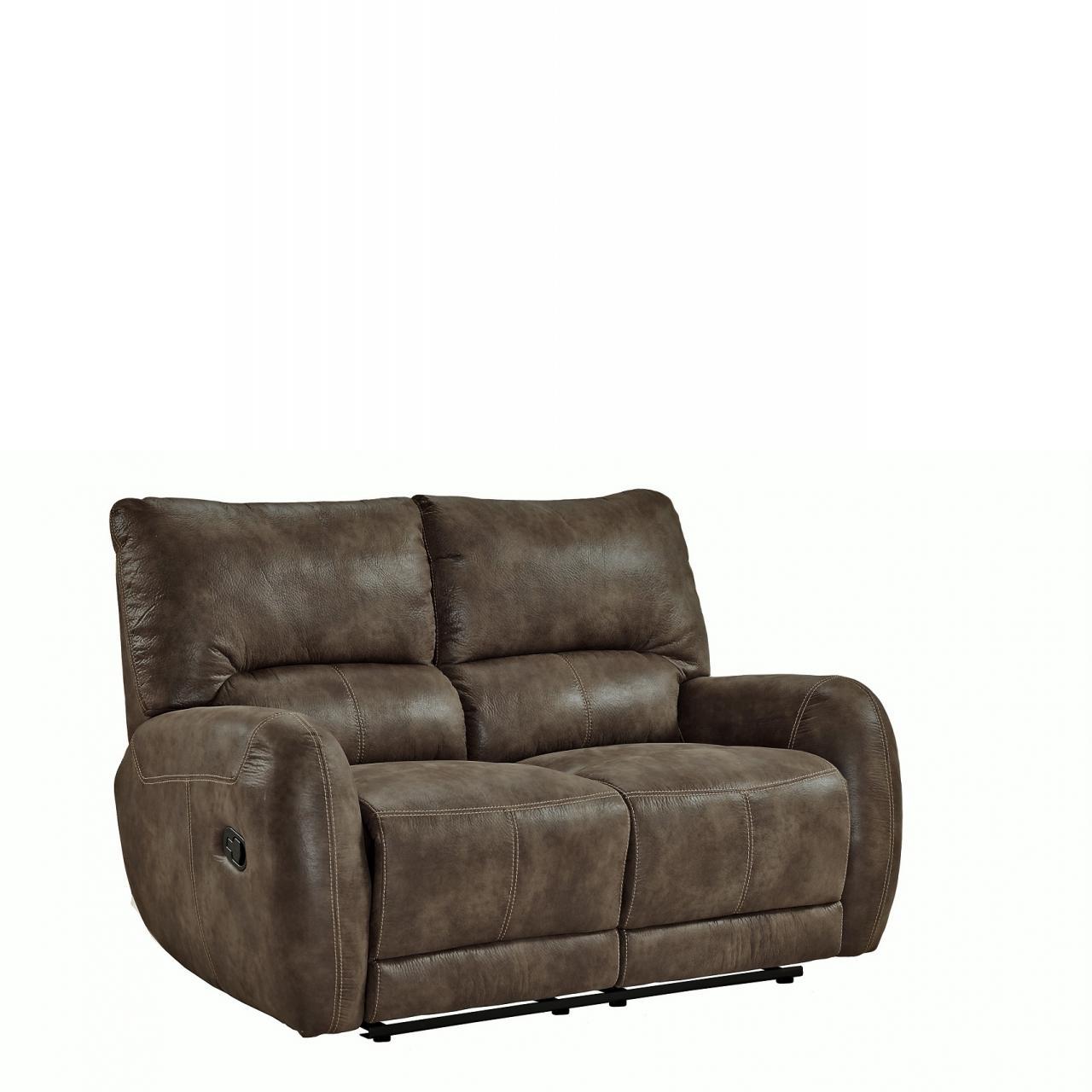 2er Sofa Fm 373 2 Braun Relaxfunktion Couch Polstergarnitur Stoff Wohnzimmer