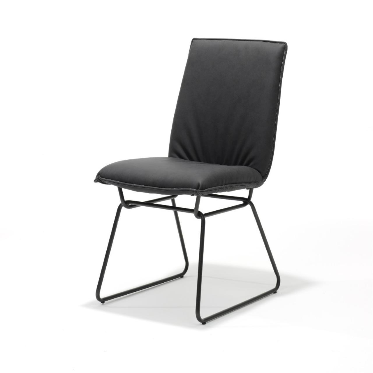 Esszimmerstuhl Flair in Anthrazit Schwarz Freisteller Stuhl Küchenstuhl