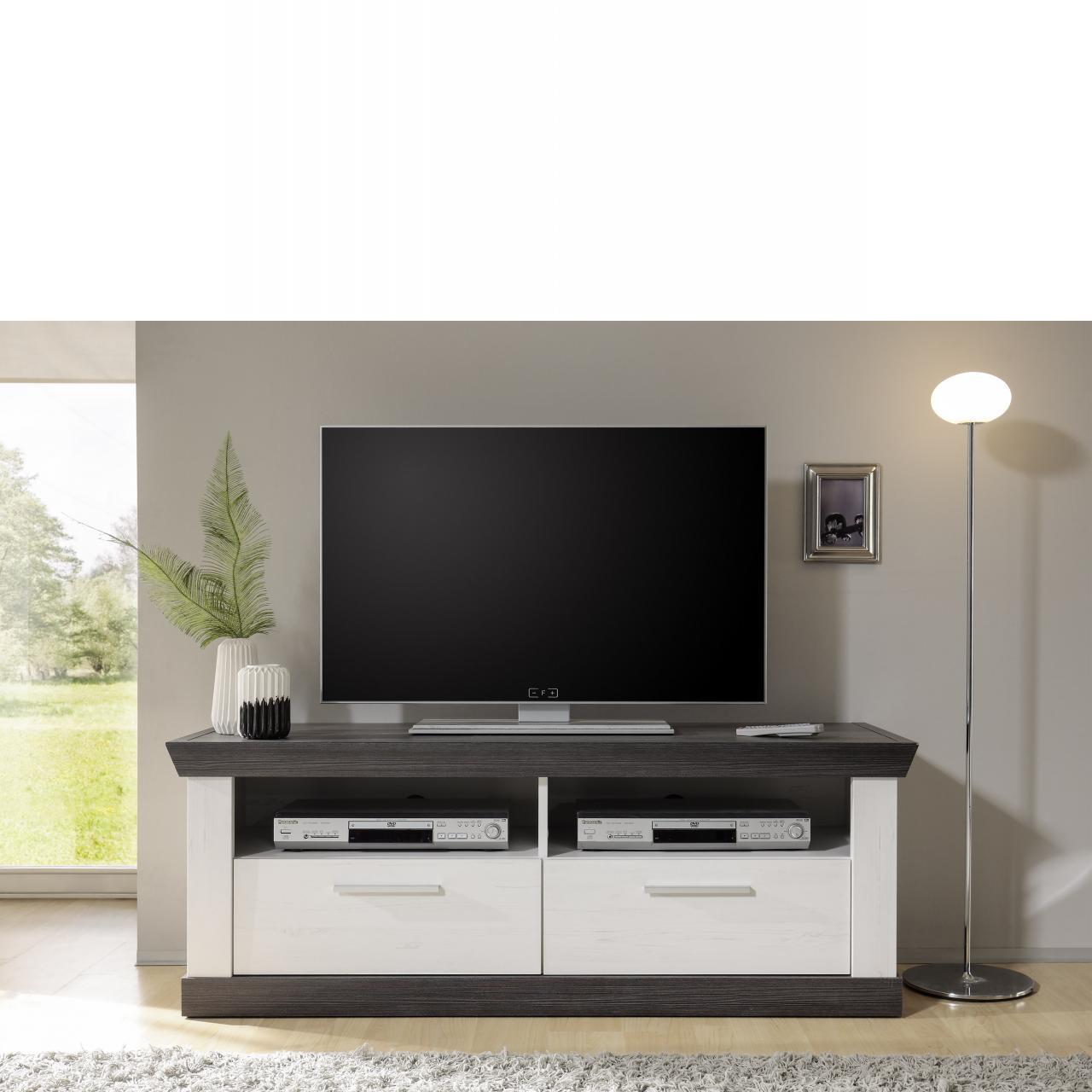 lowboard aus paulowniaholz landhausstil wei. Black Bedroom Furniture Sets. Home Design Ideas