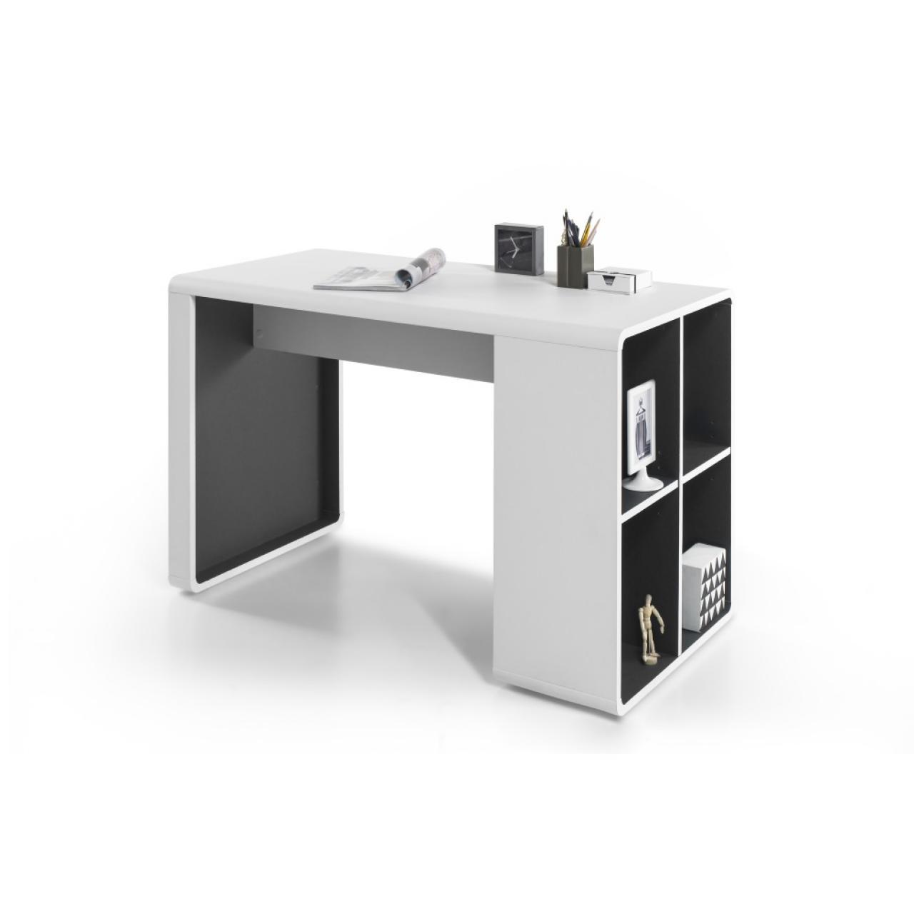 Schreibtisch Tadeo - Weiß / Anthrazit