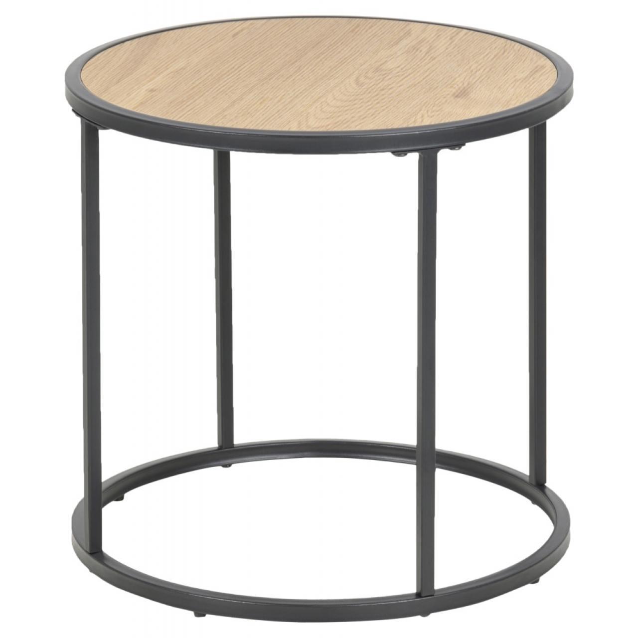 Beistelltisch Seaford 80711 Wildeiche Nb. Metall Schwarz MDF Couchtisch Tisch
