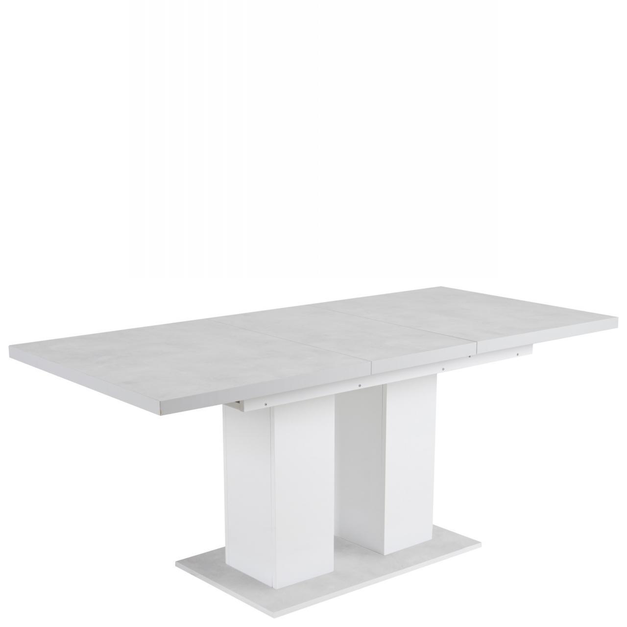 Esstisch Frankfurt Keramik Weiß Ausziegbar Tisch Küchentisch MDF Esszimmertisch