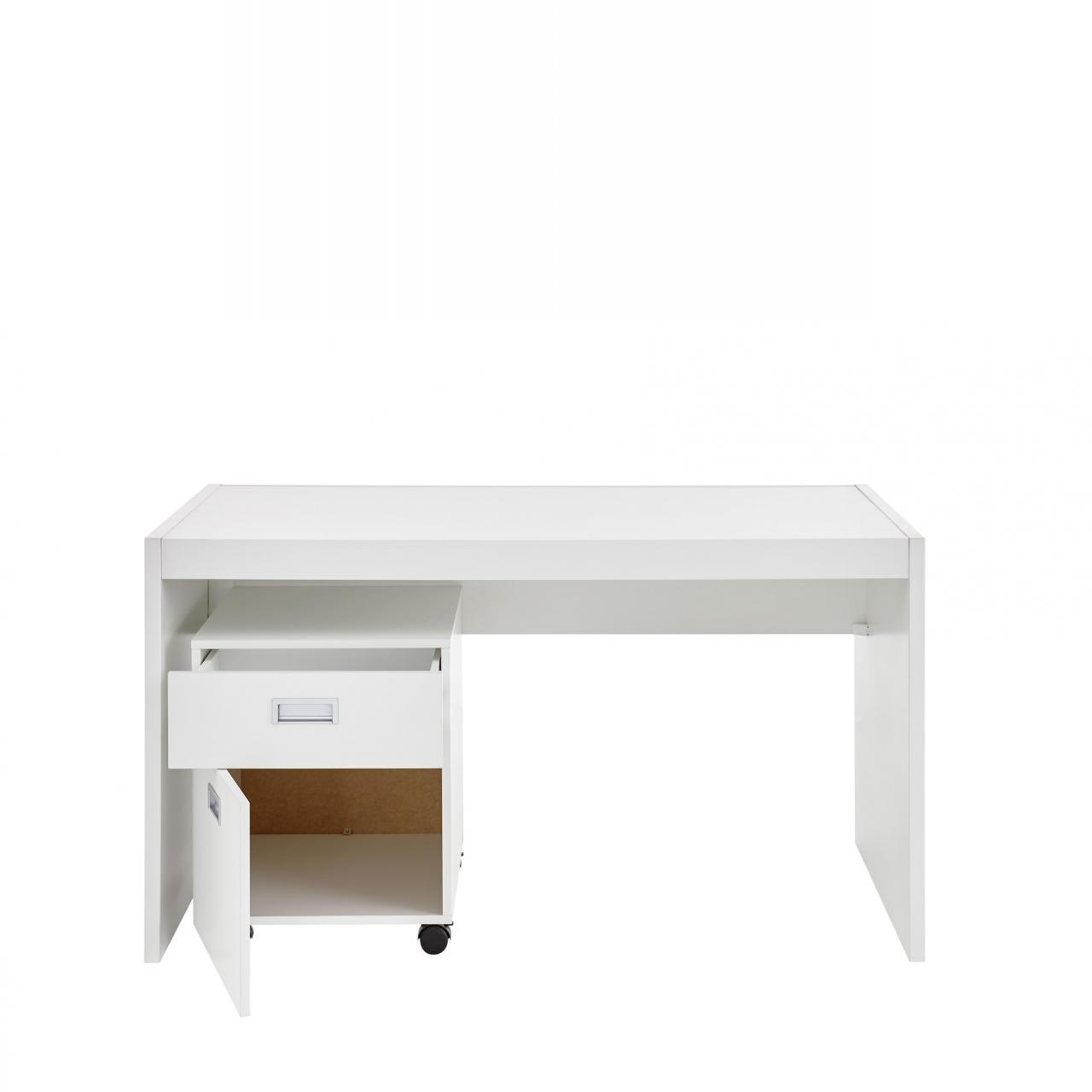 Schreibtisch Alaska Weiß MDF Kinderzimmer Büro Computertisch Tisch  Arbeitszimmer