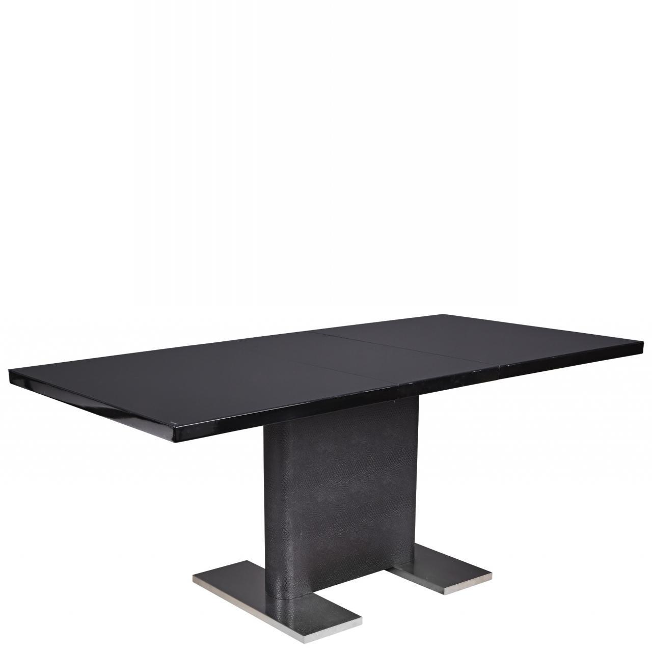 Esstisch Stanley schwarz Glas Edelstahl Küchentisch Tisch Küche Esszimmer