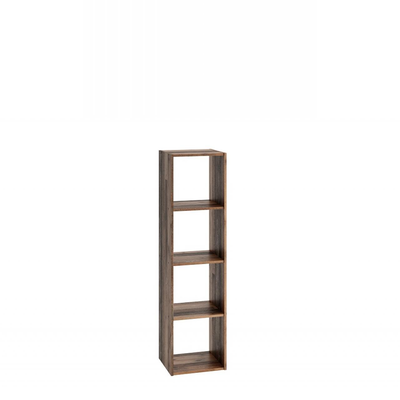 Standregal Bücherregal Mega 4 248-004 Old Style Dunkel 4 Fächer Fächerregal Raumteiler