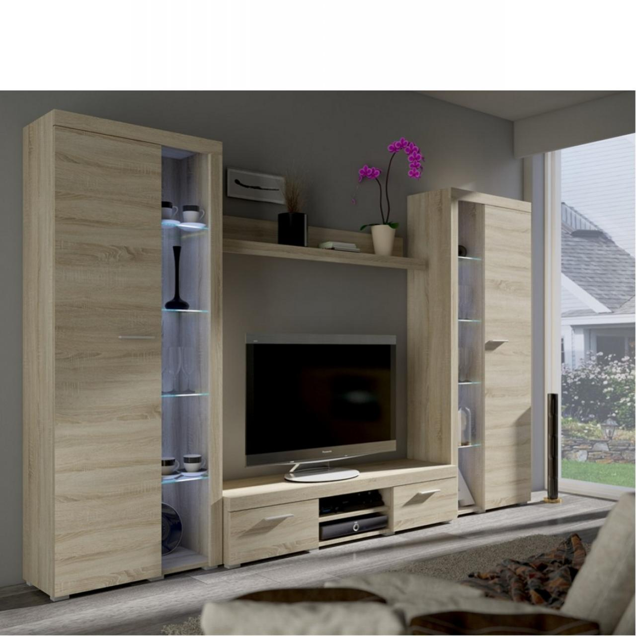 wohnwand rumca xl wohnw nde wohnen m bel j hnichen. Black Bedroom Furniture Sets. Home Design Ideas