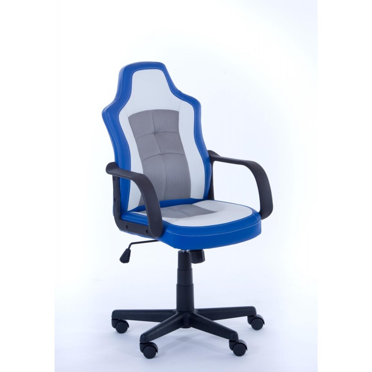 Chefsessel Jacky - weiß/blau