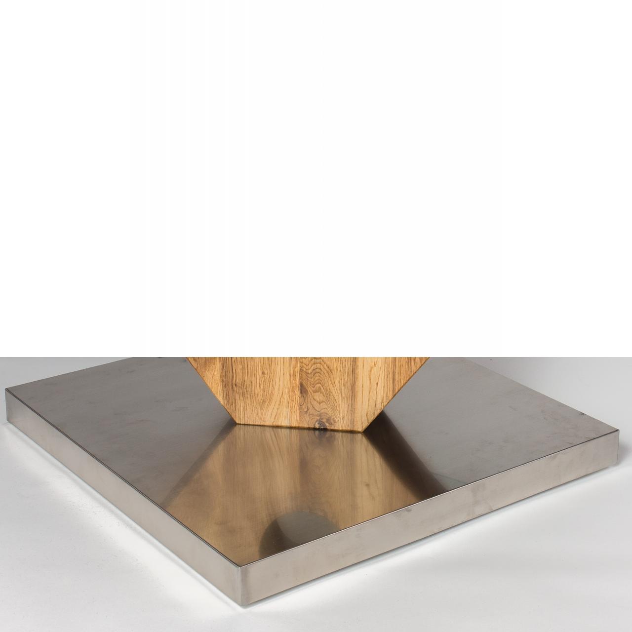 couchtisch felino wildeiche glasplatte edelstahl sockel m bel j hnichen center gmbh. Black Bedroom Furniture Sets. Home Design Ideas