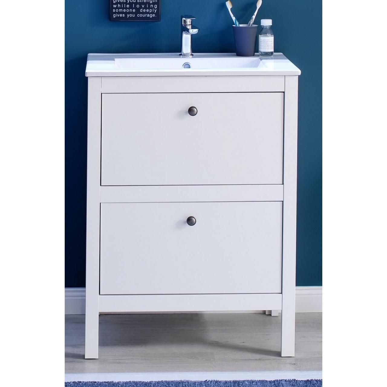 Waschbeckenunterschrank Ole - weiß