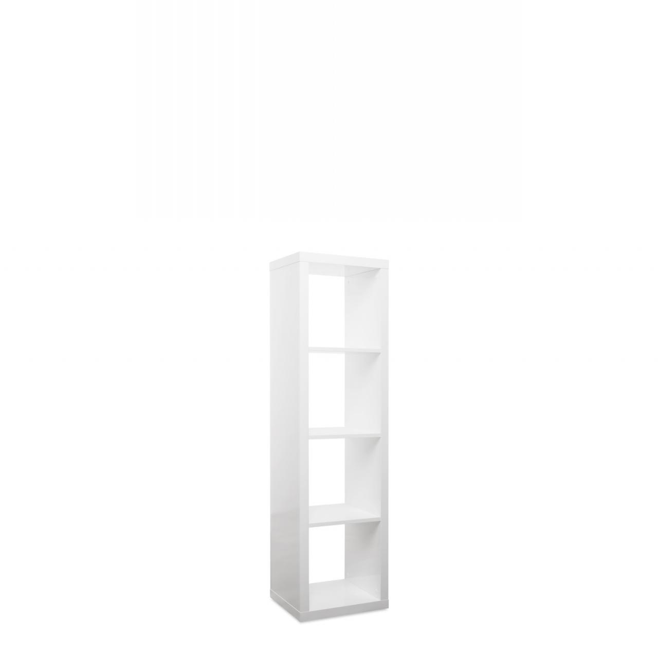 4er Säule Milano 22 2722 Regal Weiß Hochglanz Aufbewahrung Bücherregal