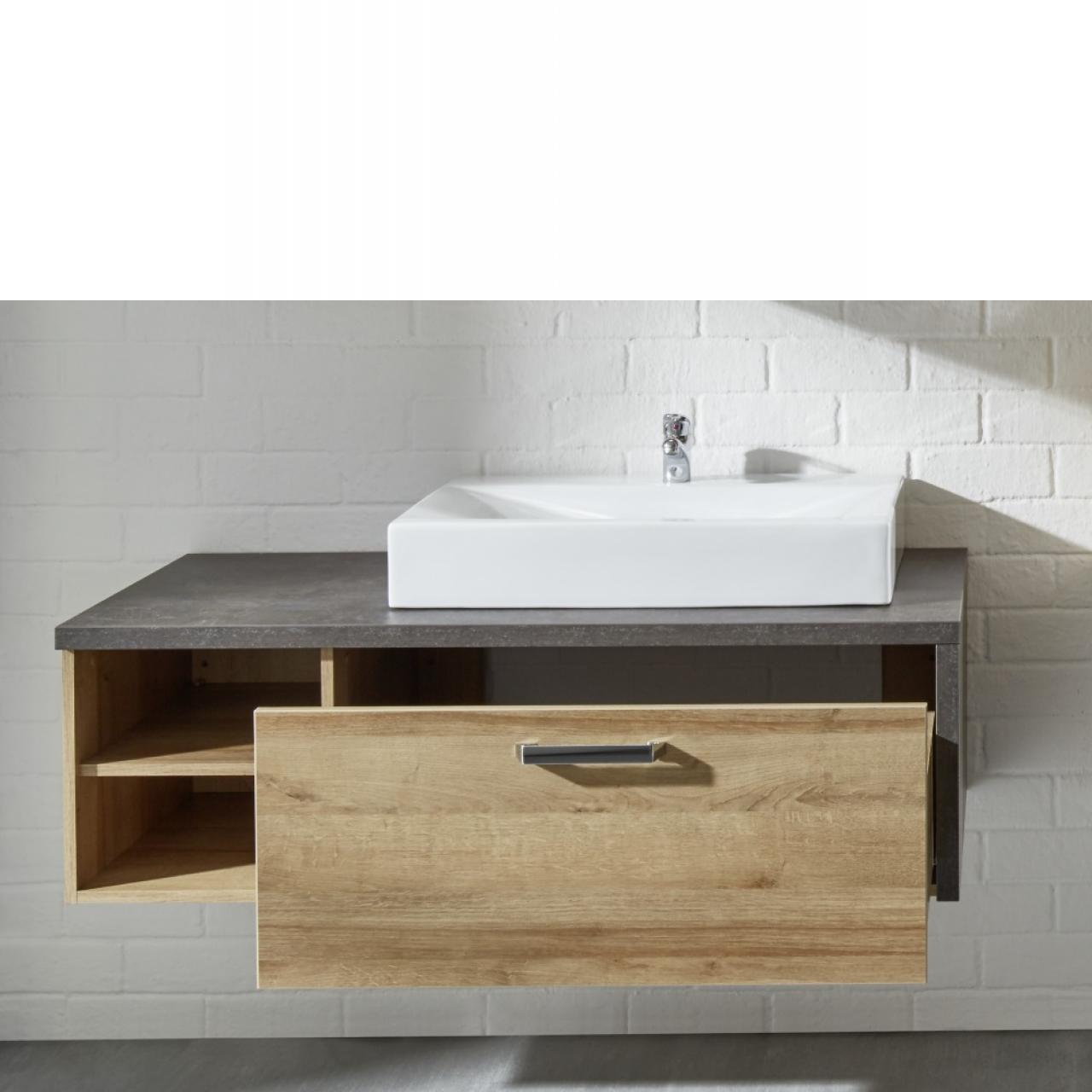 Badm bel bay waschbeckenunterschrank inkl waschbecken m bel j hnichen center gmbh for Badmobel aufsatzwaschbecken