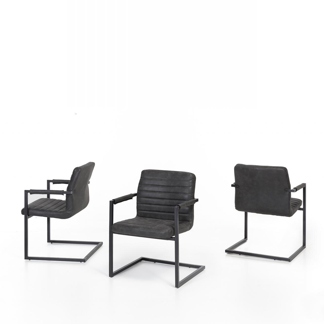 Stuhl Parzio - schwarz