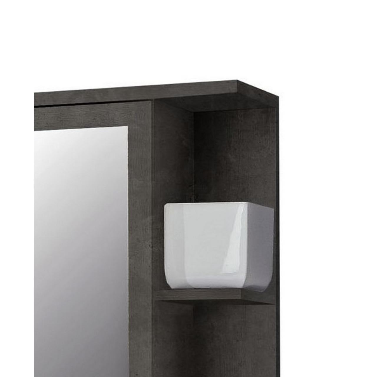 Spiegelschrank Champ Badmöbel Beton Optik mit Ablage
