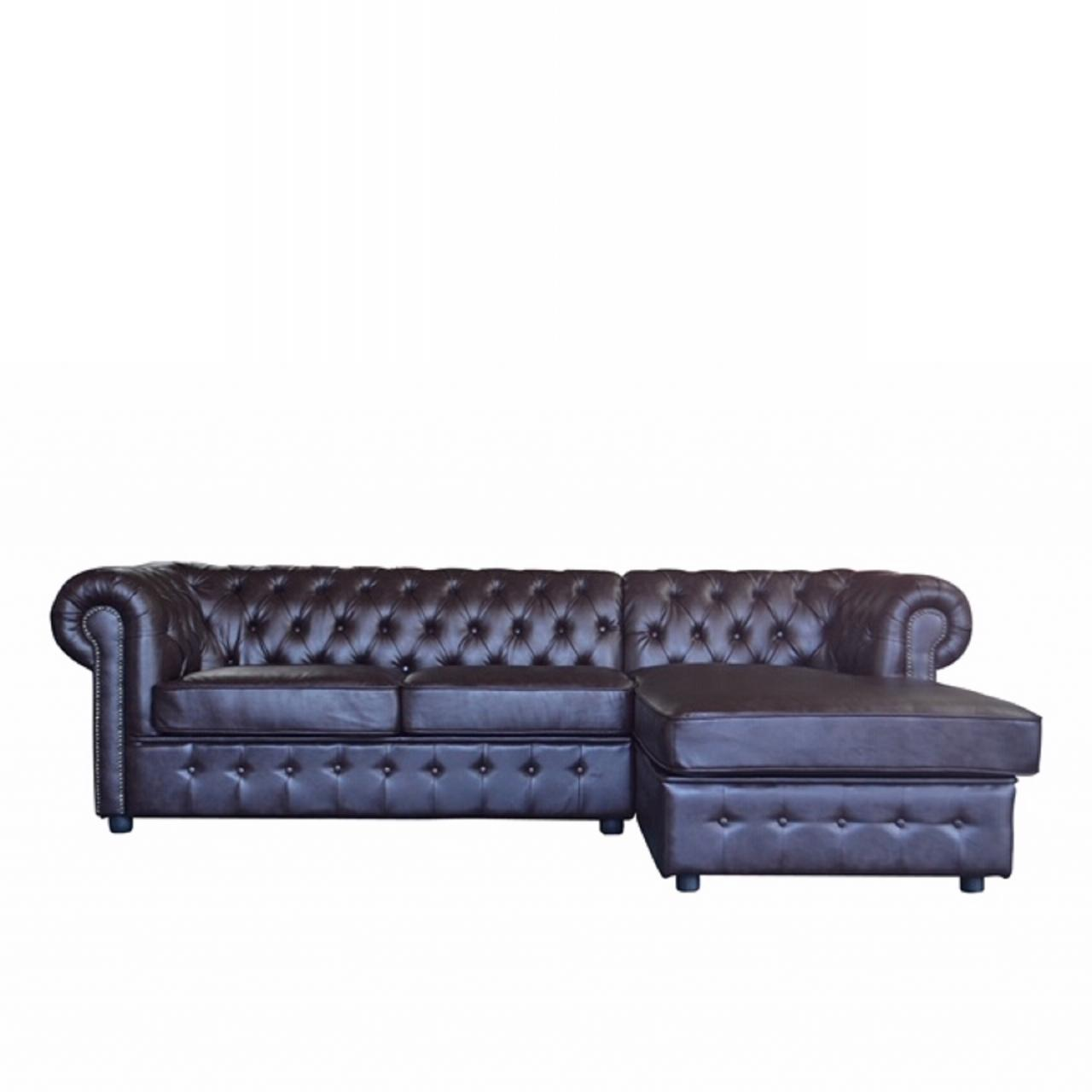 Ecksofa RFU-8010 Dark Coffee Polstergarnitur L-Form Sofa Couch
