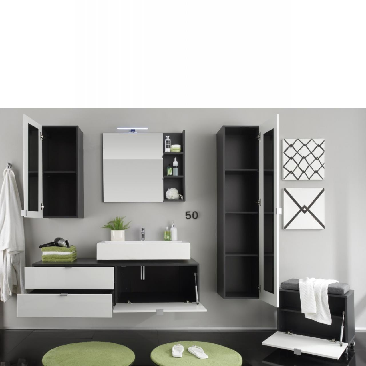 wandspiegel bad beach mit ablage badm bel wohnen. Black Bedroom Furniture Sets. Home Design Ideas