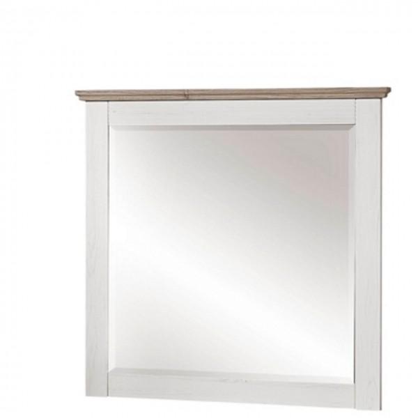 Spiegel Lima Weiß Pinie Hell Taupe 89x85 cm Flur Diele Wanspiegel