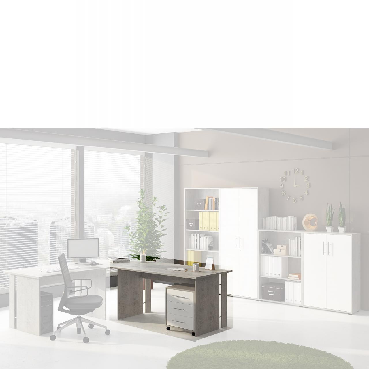Schreibtisch Bonn in Beton Optik 150 cm