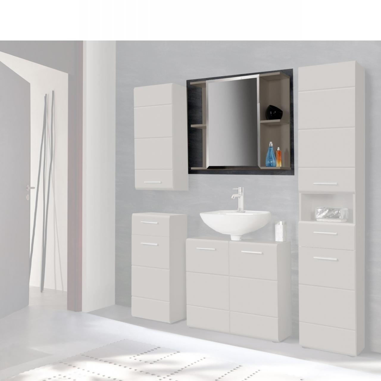 spiegelschrank salve grau badm bel wohnen m bel j hnichen center gmbh. Black Bedroom Furniture Sets. Home Design Ideas
