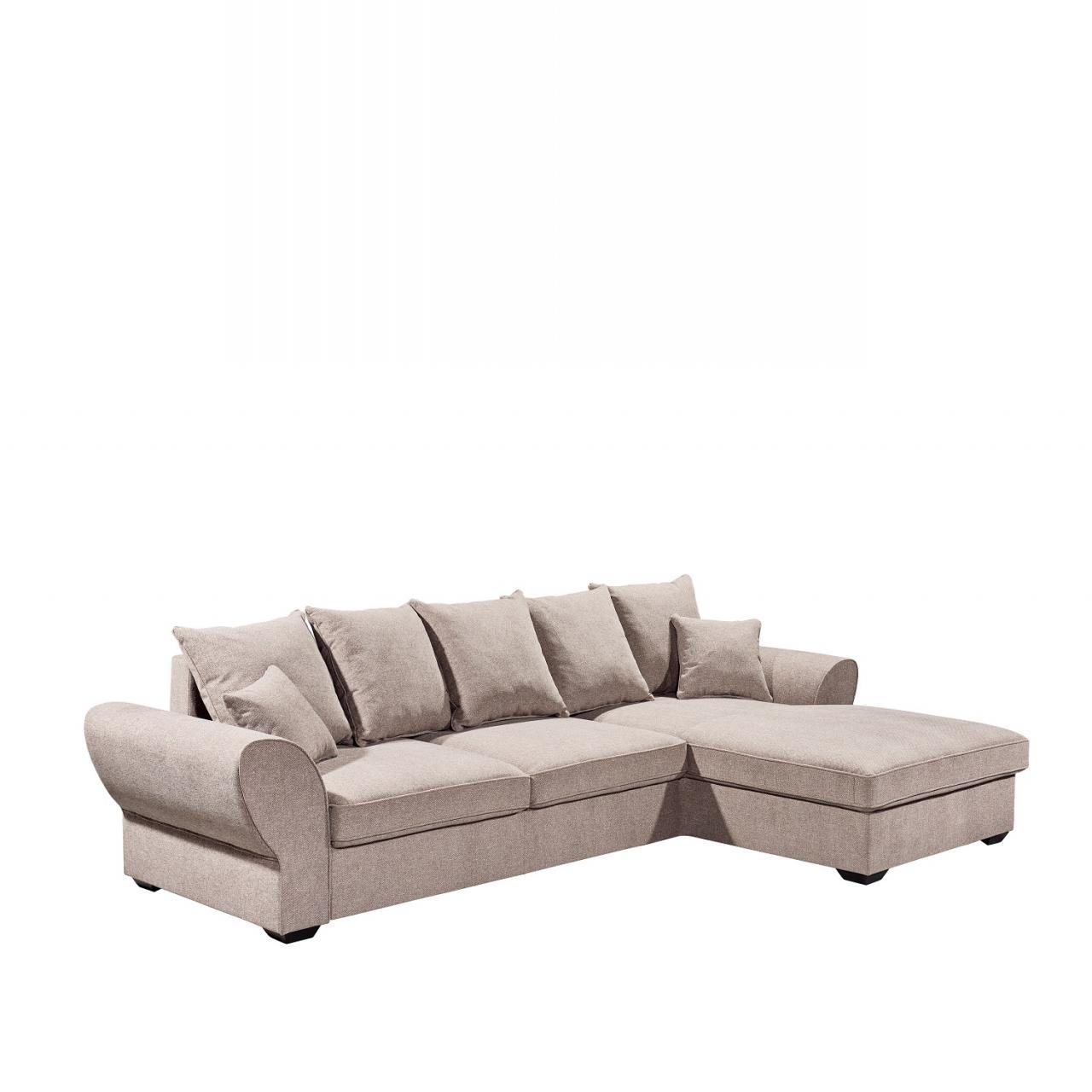 Polstergarnitur Bozen Altrosa Stoff Mit Schlaffunktion inkl. Kissen Sofa Couch