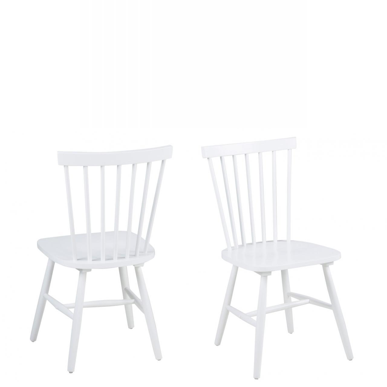 Esszimmerstuhl Riano 63658 Weiß Rubberwood Küchenstuhl Esszimmer Stuhl