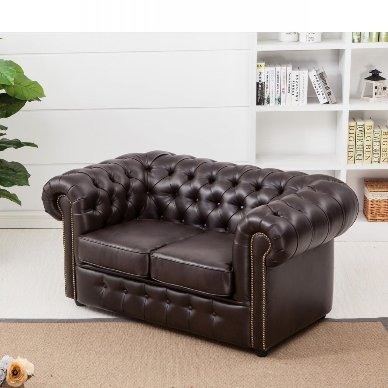 2-Sitzer Chesterfield Sofa