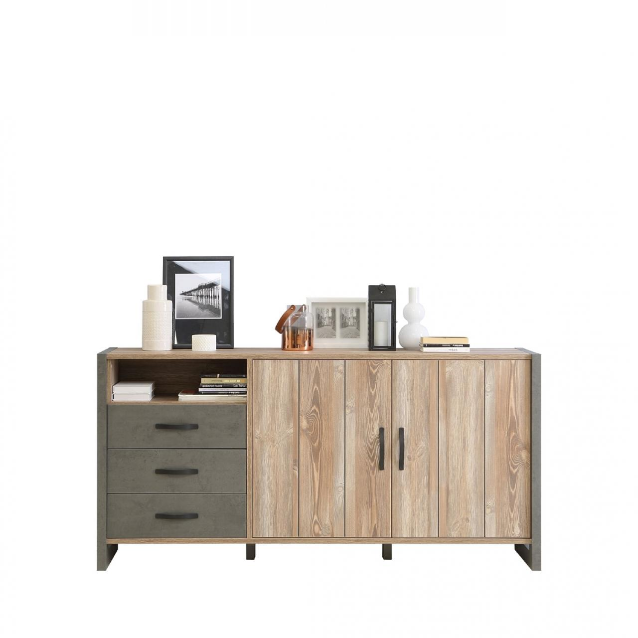 Sideboard Note - Beton/Picea Kiefer