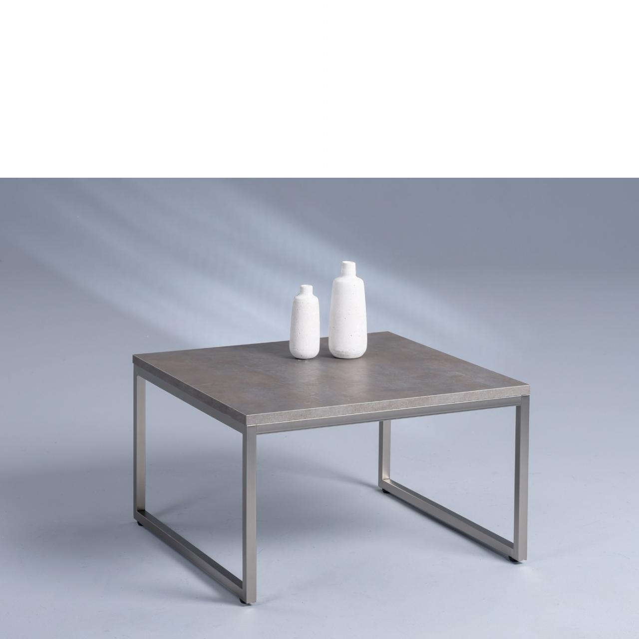 Couchtisch Lagos 1 Keramik Edelstahloptik Mdf Metall 60x60 Cm