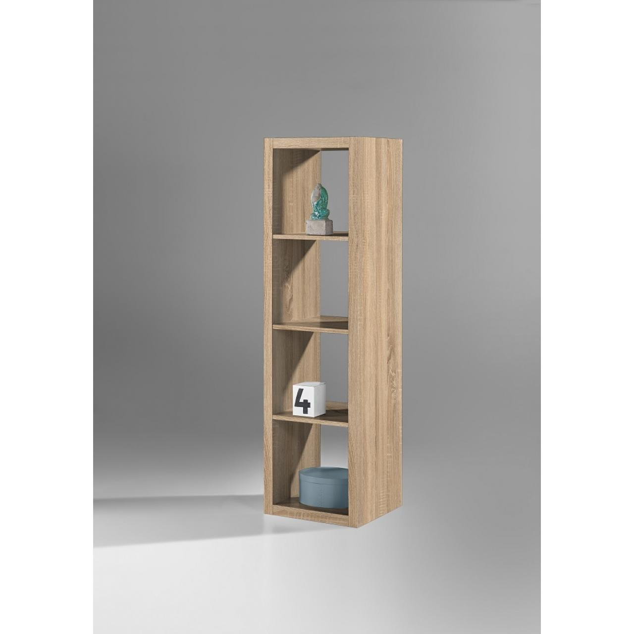 Raumteiler Style 134 Sonoma Eiche 4 Fächer Regal Standregal Wohnzimmer Flur