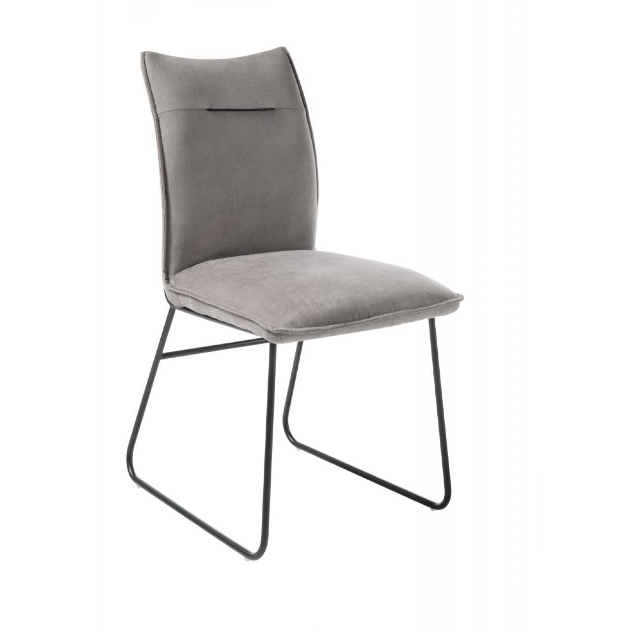 Stuhl Betty Taupe Schwarz Stoff Metall Esszimmerstuhl Küchenstuhl