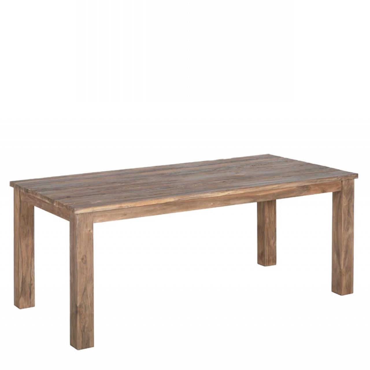 Esstisch Borneo, 160x90 cm, Teakholz, Driftwood, Küchentisch, Esszimmertisch
