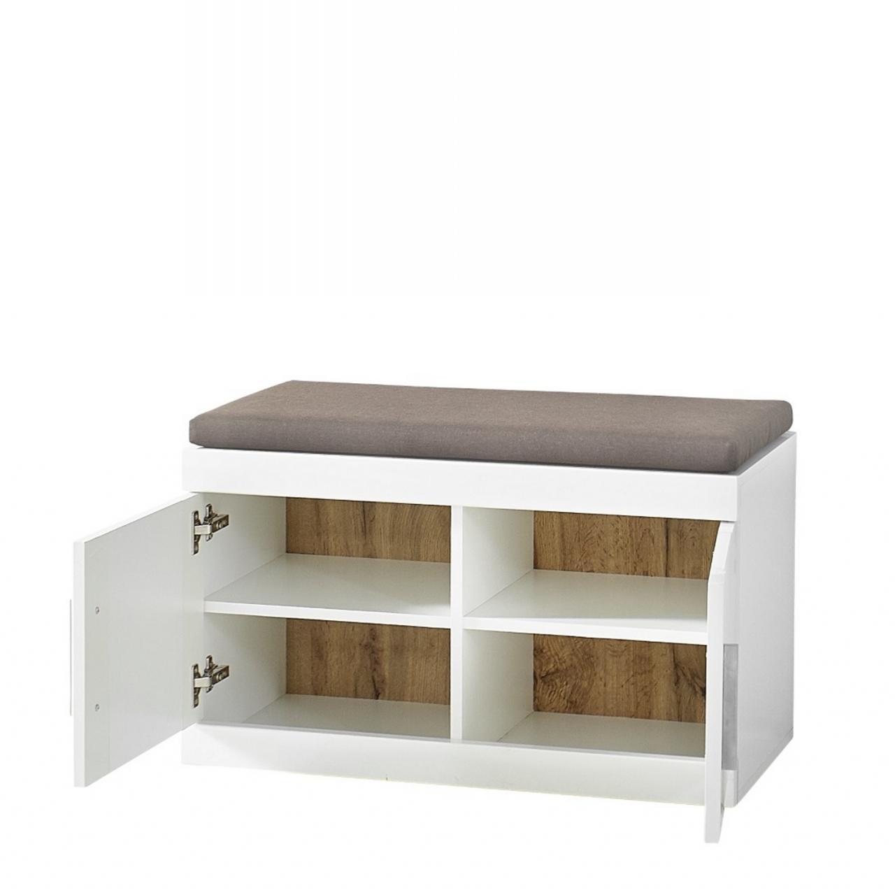 garderobenbank juno wei 2 t ren 80 cm breit m bel. Black Bedroom Furniture Sets. Home Design Ideas