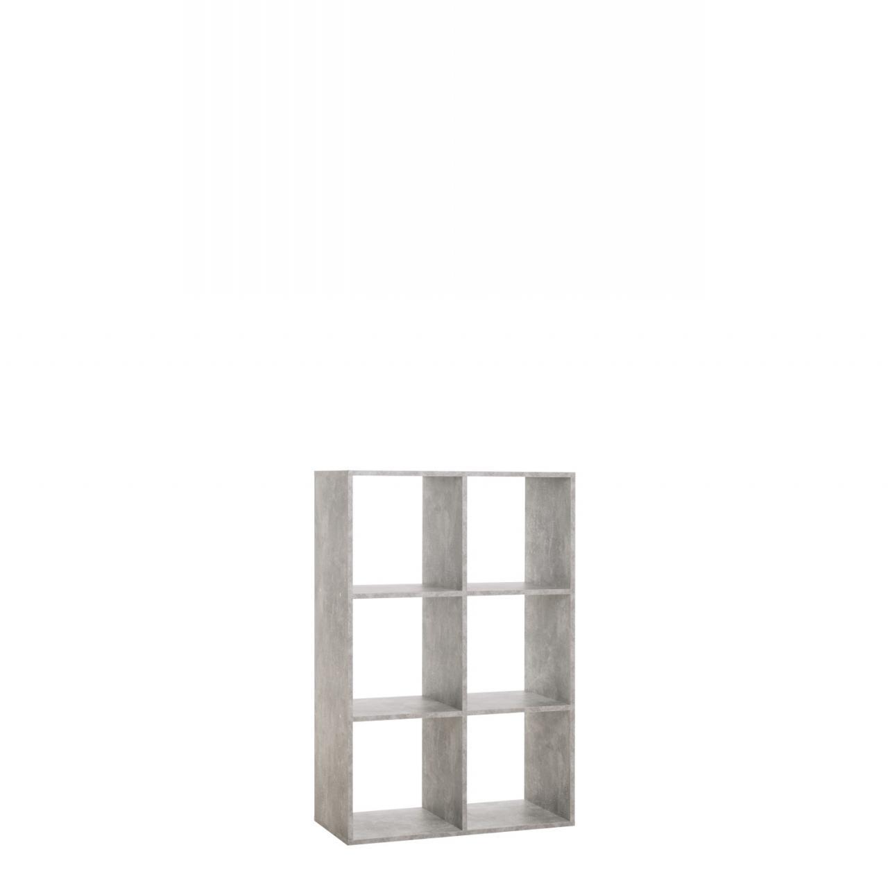 regal louis 6 beton | regale | wohnen | möbel jähnichen center gmbh