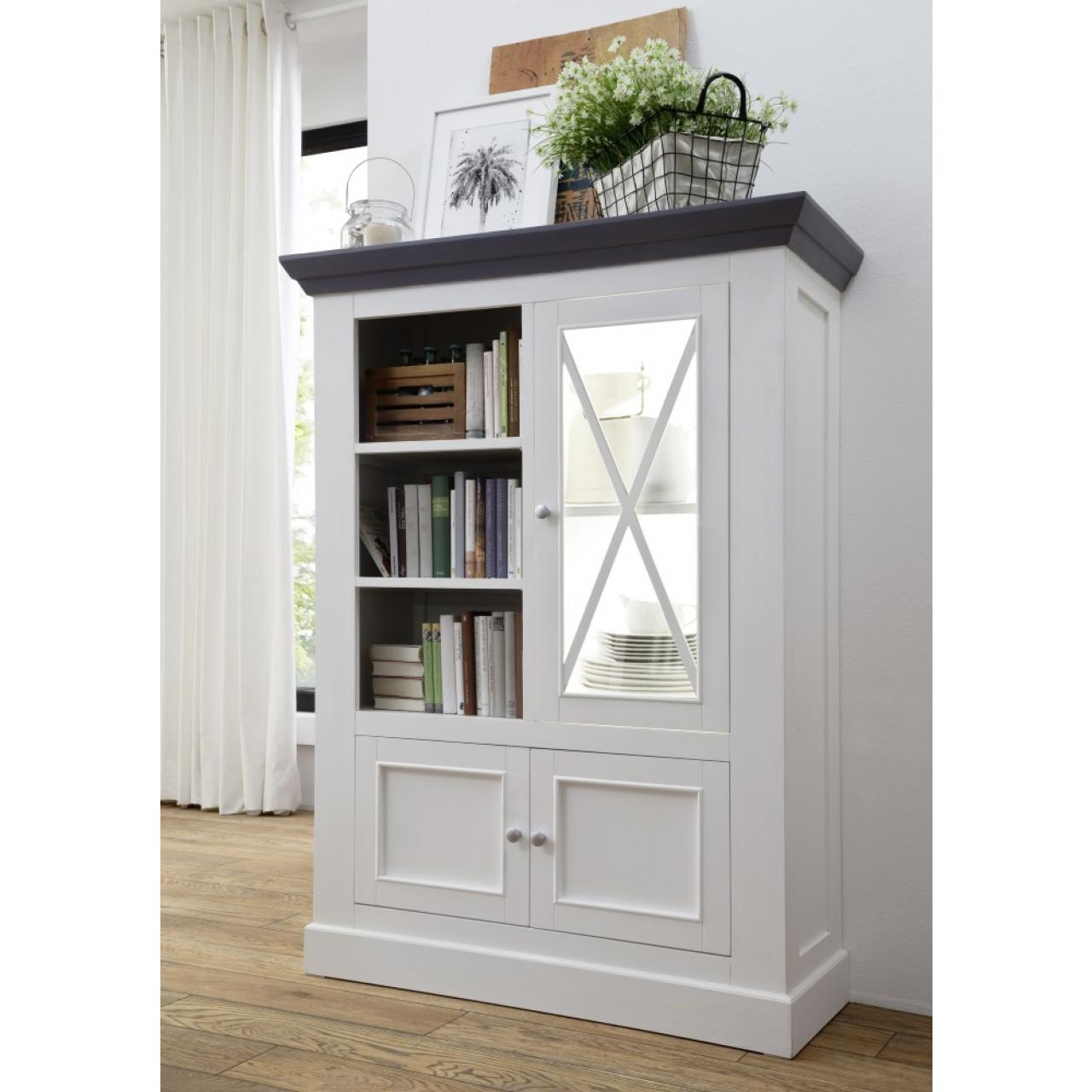 vitrine grau excellent jugendstil schrank vitrine kommode grau weiss shabby chic antik with. Black Bedroom Furniture Sets. Home Design Ideas