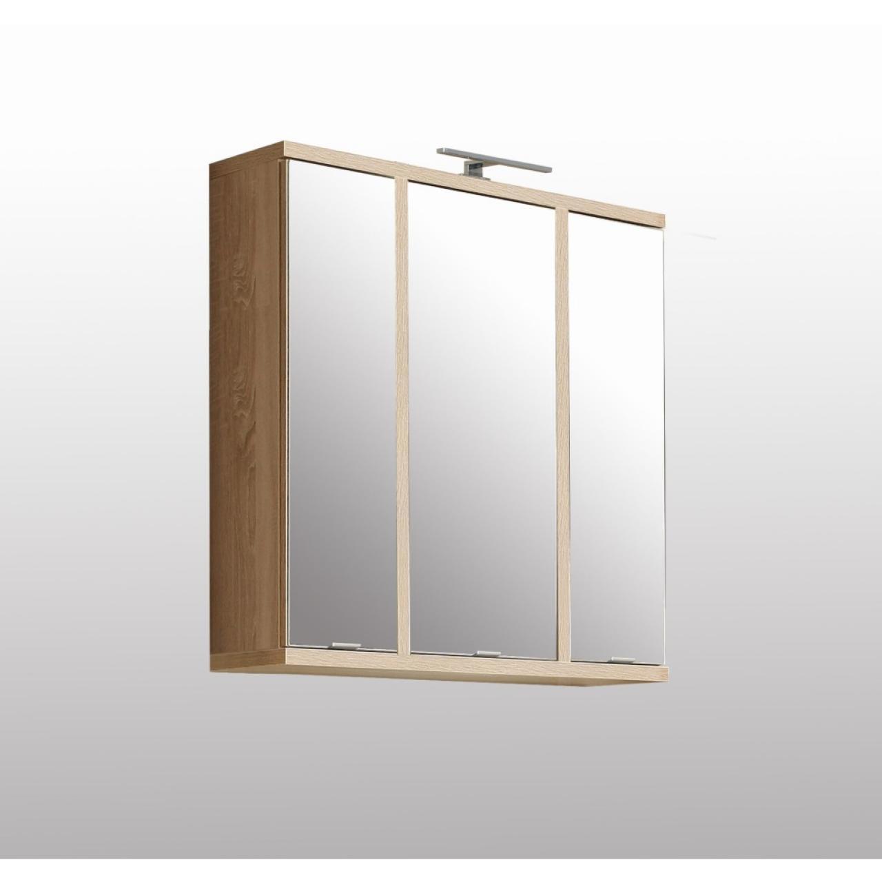 Badmöbel Bay Spiegelschrank Eiche Rivera Beton