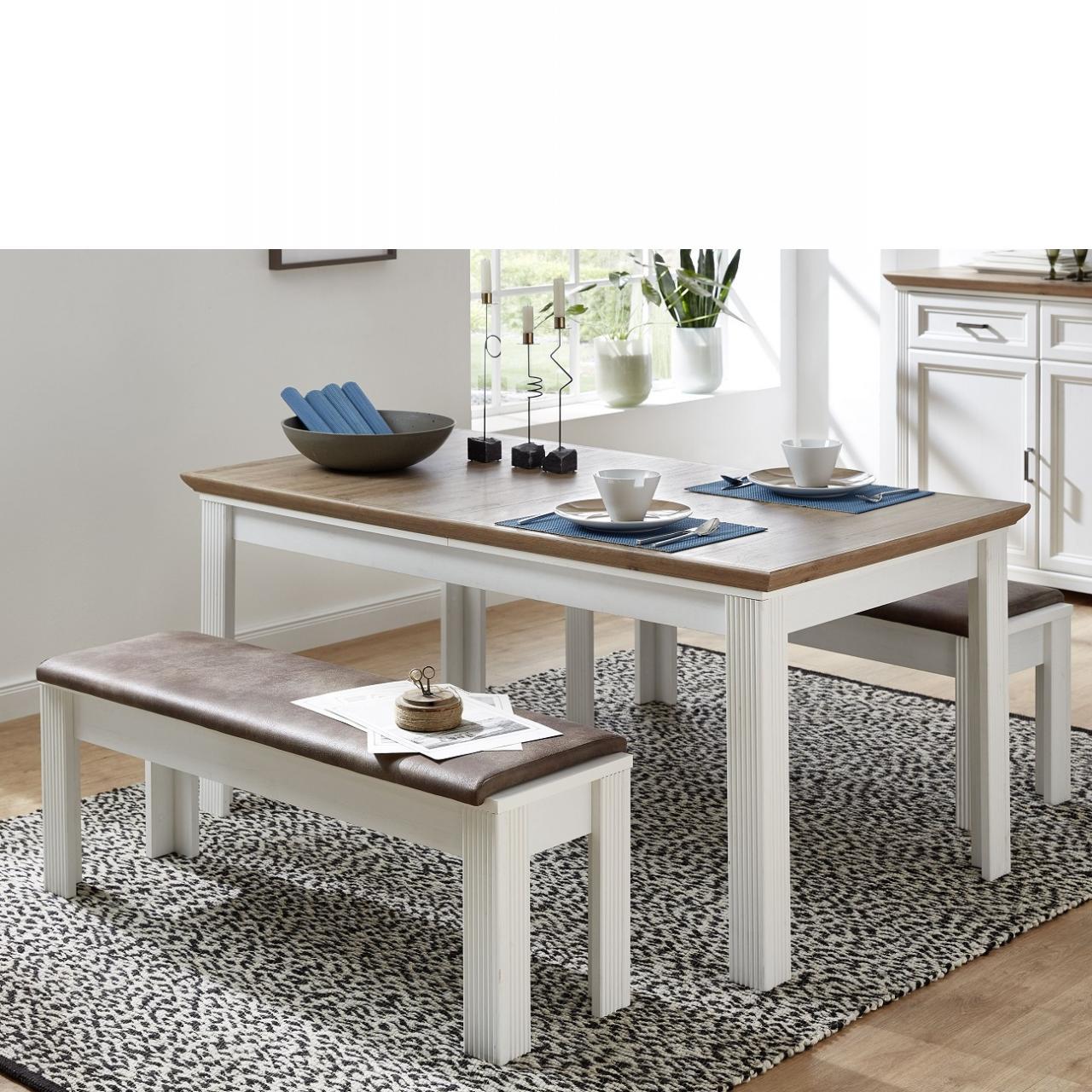 Esstisch Jasmin Pine Hell Artisan Eiche Nb. Ausziehbar Küchentisch Küche