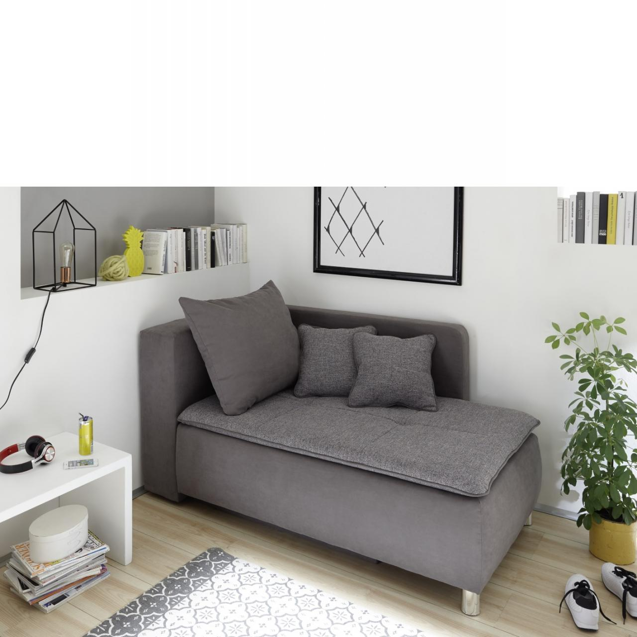 Sofa Marilyn Grau Mit Funktion Liege Polstermöbel Möbel