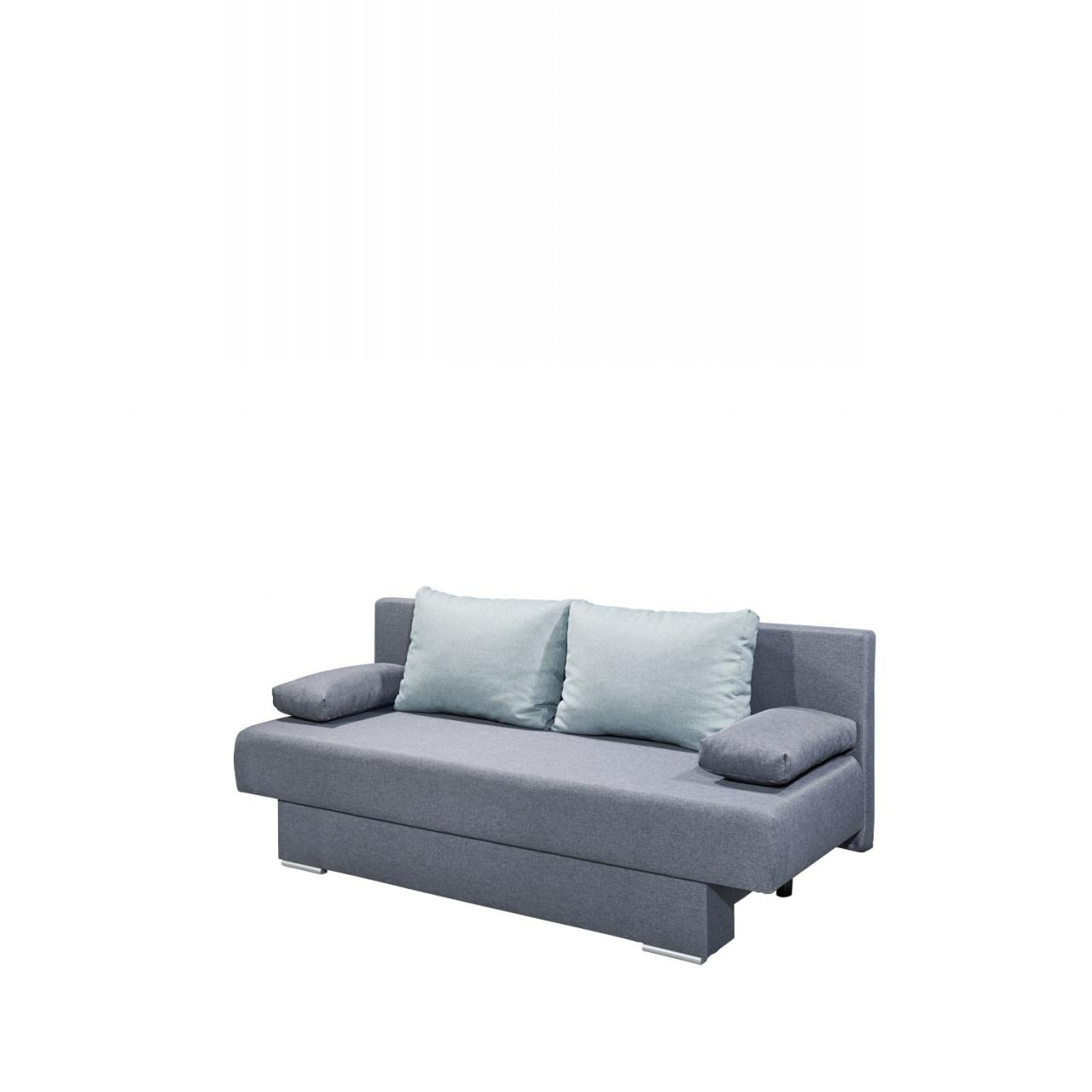Schlafsofa Melanie Anthrazit Mint inkl. Kissen Couch Funktionssofa Sofa