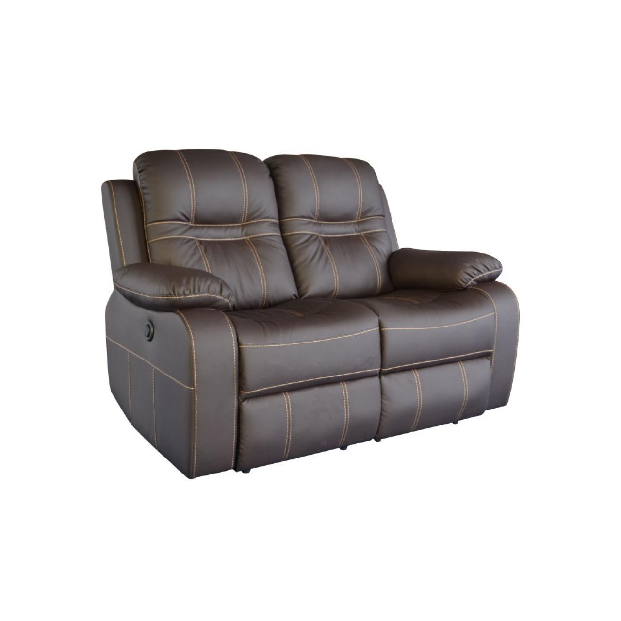 2 sitzer mit relaxfunktion dark coffee relaxsofa couch m bel j hnichen center gmbh. Black Bedroom Furniture Sets. Home Design Ideas