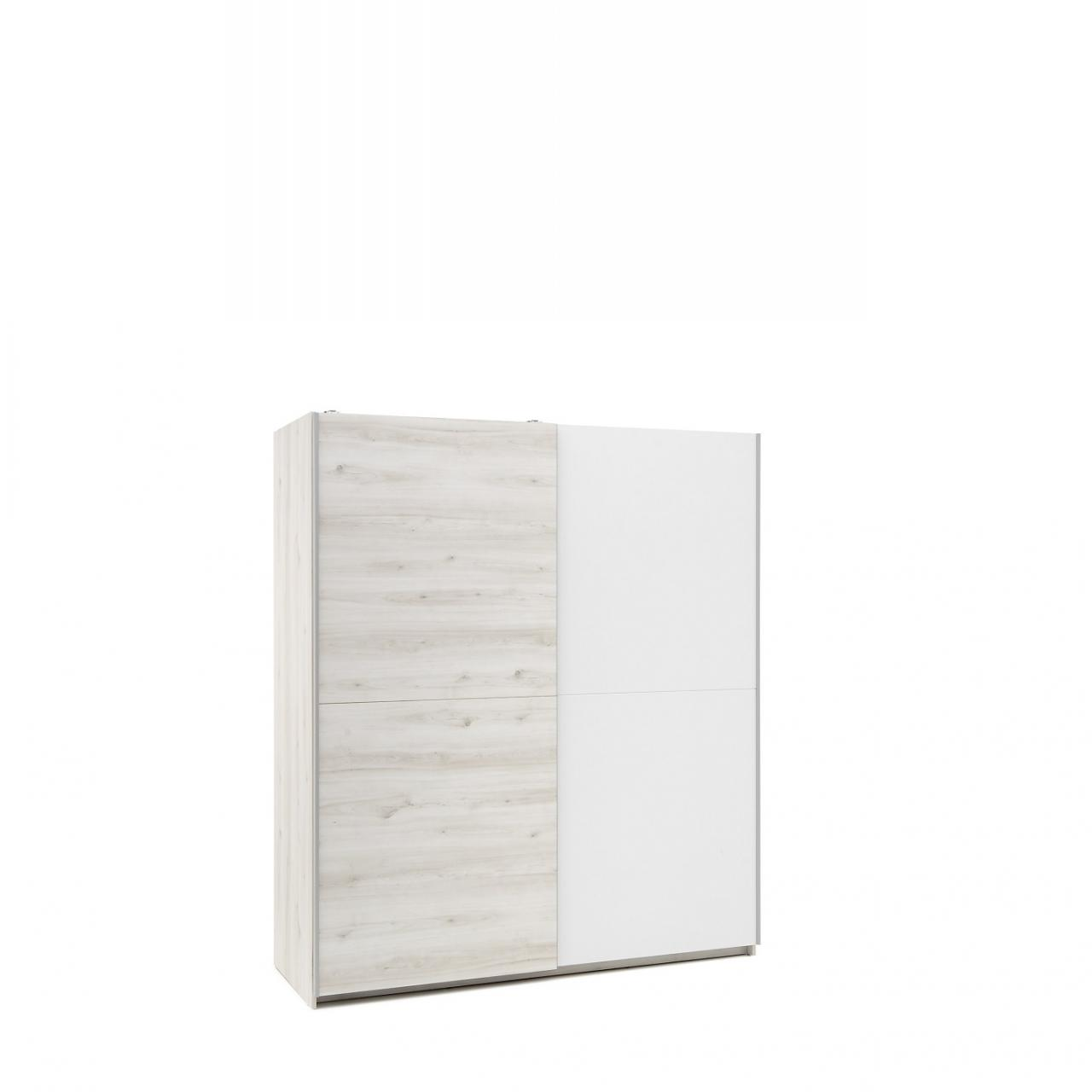 Schwebetürenschrank Cuby 2-türig Weiß Aurum Kleiderschrank Schlafzimmerschrank