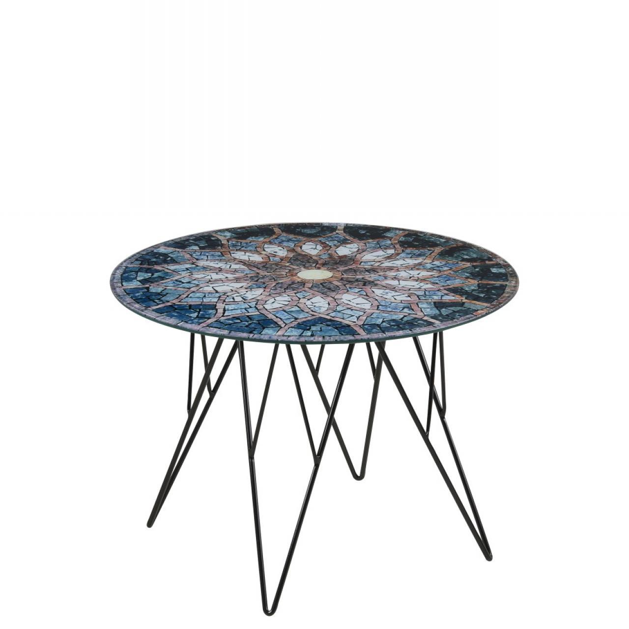 Ecktisch - Prunus - Sun Mosaik print - 55 cm Durchmesser