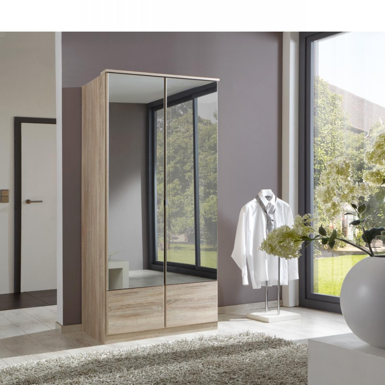 kleiderschrank imago 2 2 t rig eiche s gerau spiegelfront m bel j hnichen center gmbh. Black Bedroom Furniture Sets. Home Design Ideas