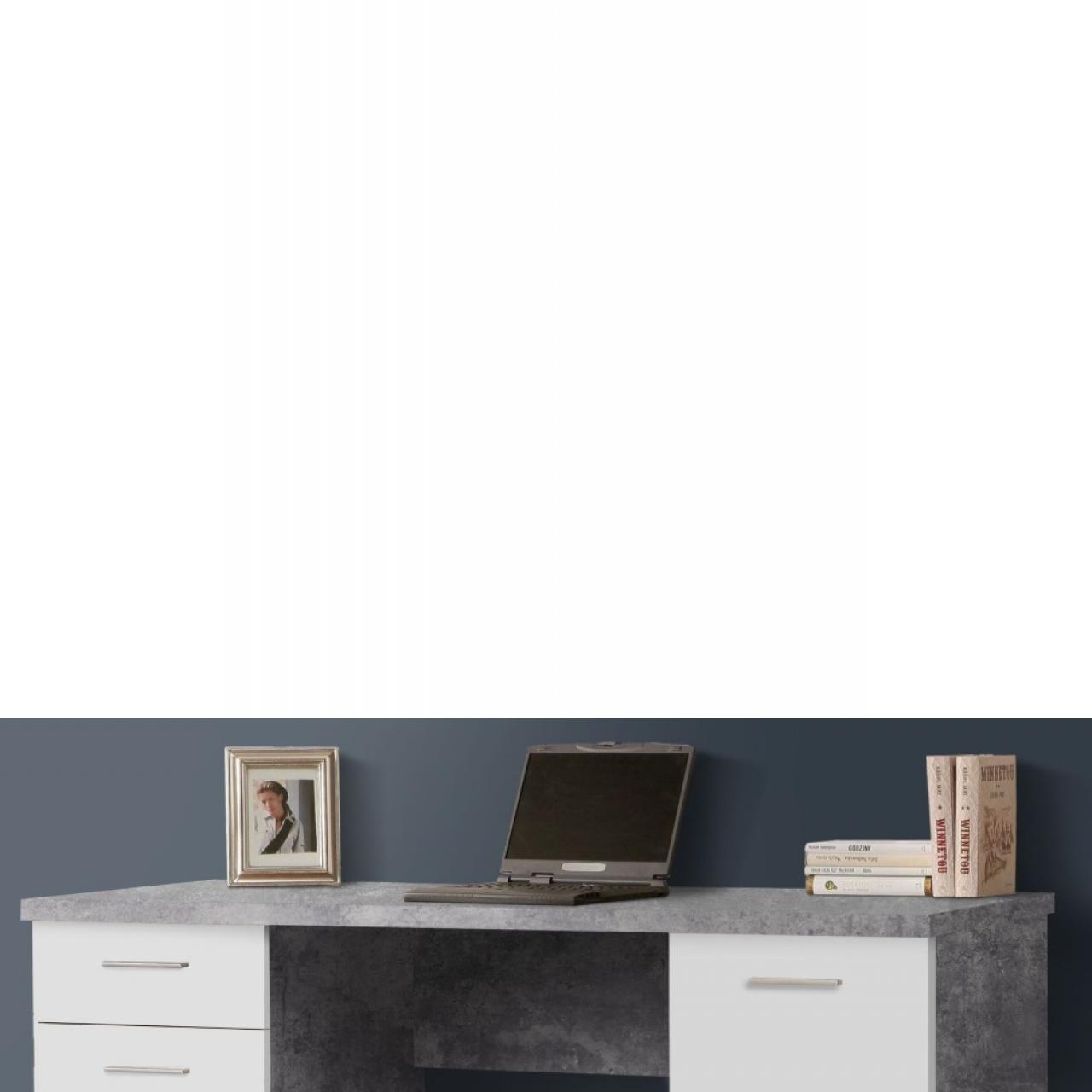 Schreibtisch Net Betonoptik 145x60 cm
