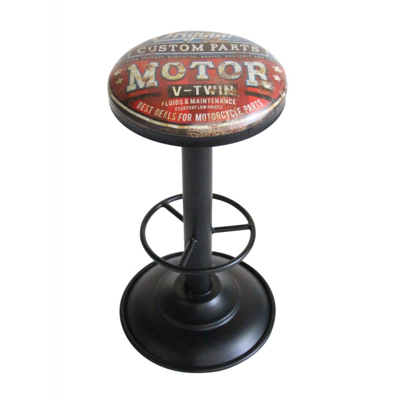 Barhocker Motor Design im Vintage Look