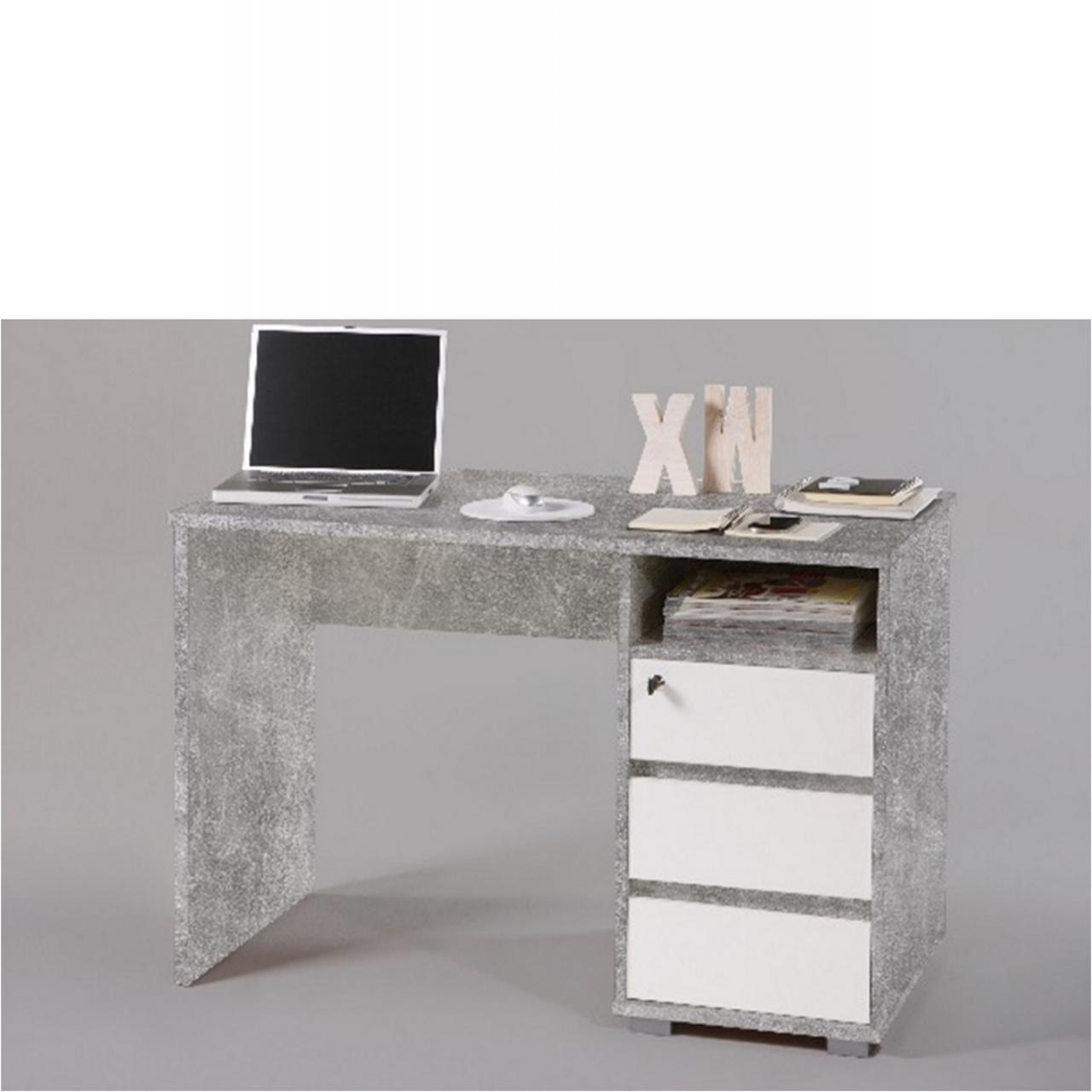 Schreibtisch - Primus 1 - Beton/Weiss